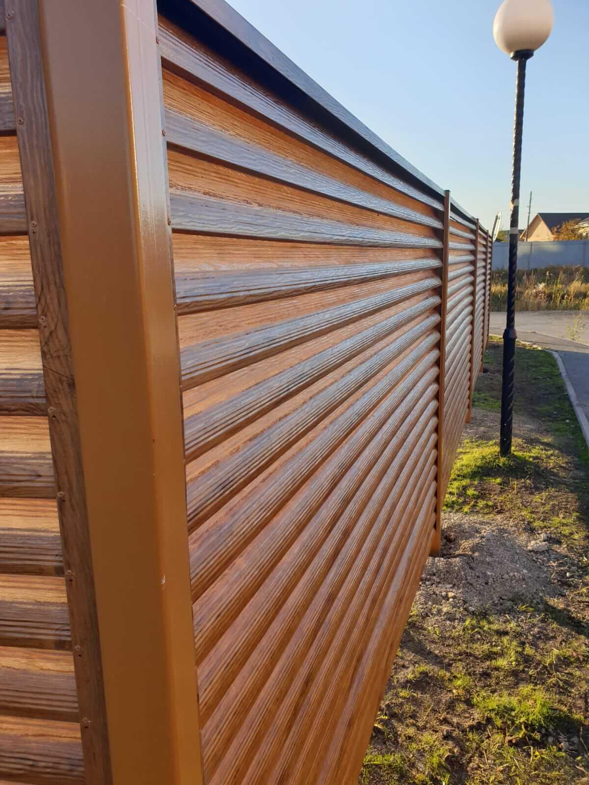 Забор-жалюзи 90м Орех фото4