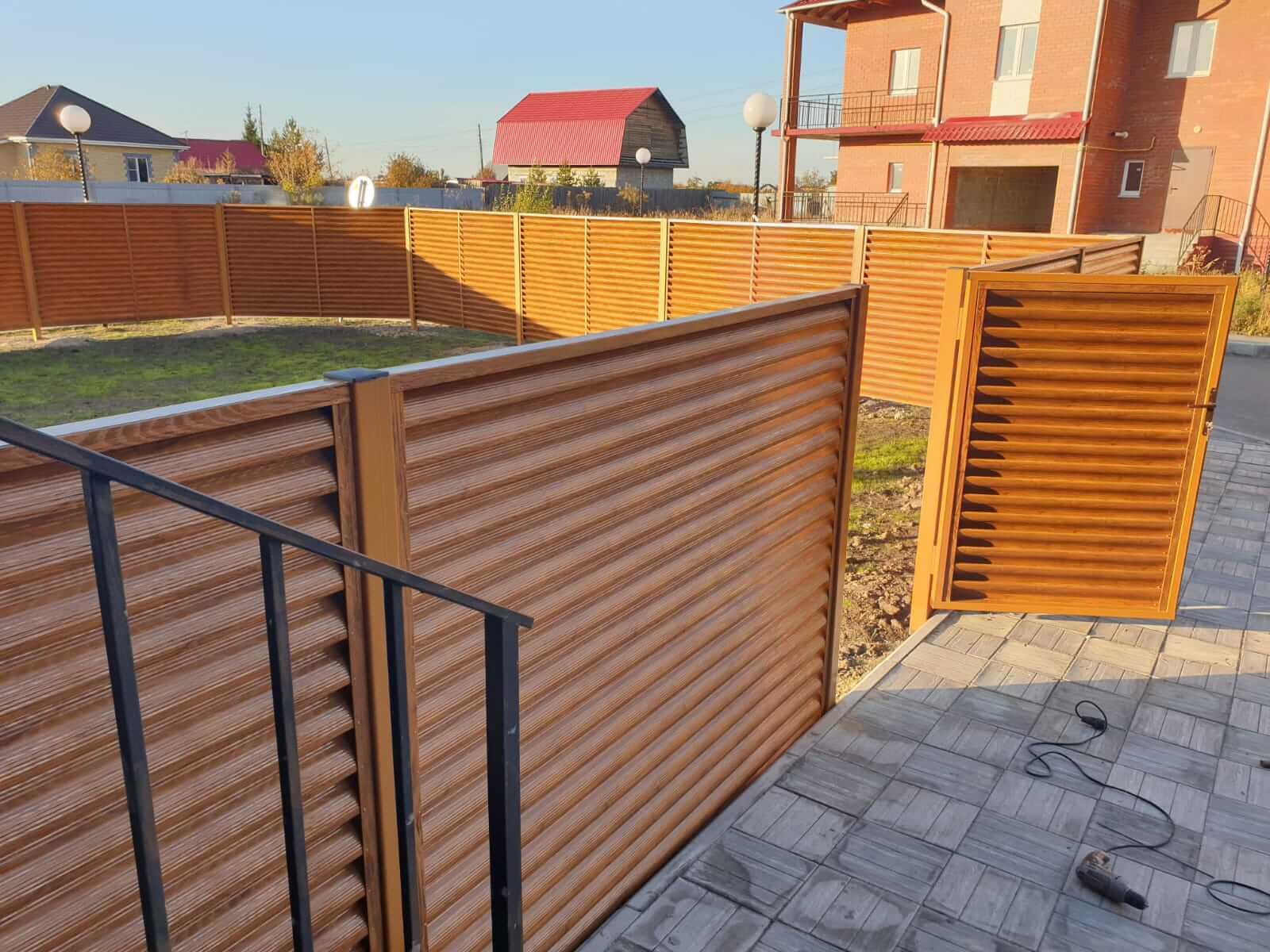 Забор-жалюзи 90м Орех фото9